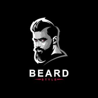 Diseño de logotipo de barba