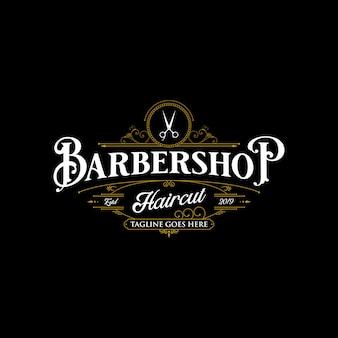 Diseño de logotipo de barbería.