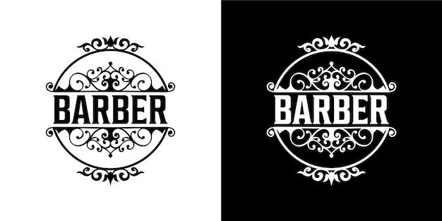 Diseño de logotipo de barbero