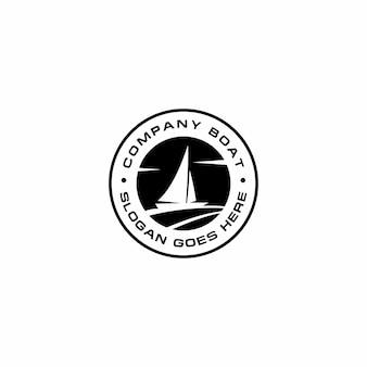 Diseño de logotipo de barco de empresa