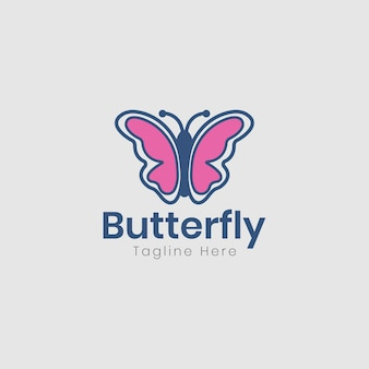 Diseño de logotipo beauty butterfly