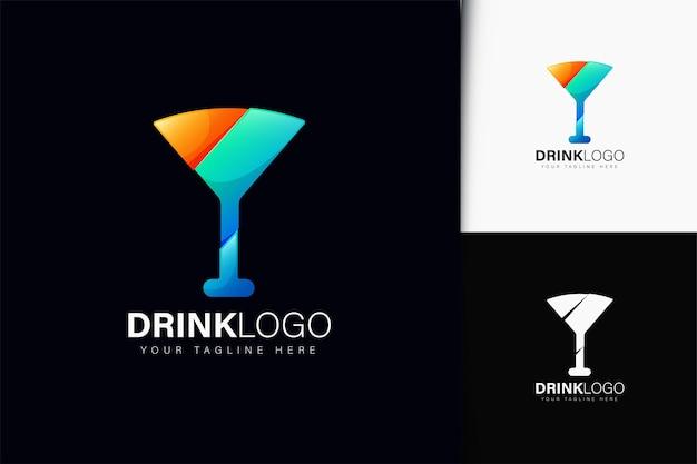 Diseño de logotipo de bebida con degradado.