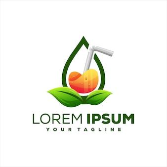Diseño de logotipo de bebida de jugo naranja