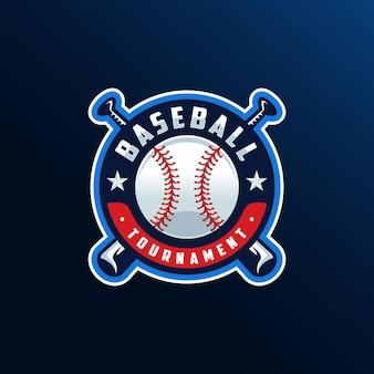 Diseño de logotipo de béisbol