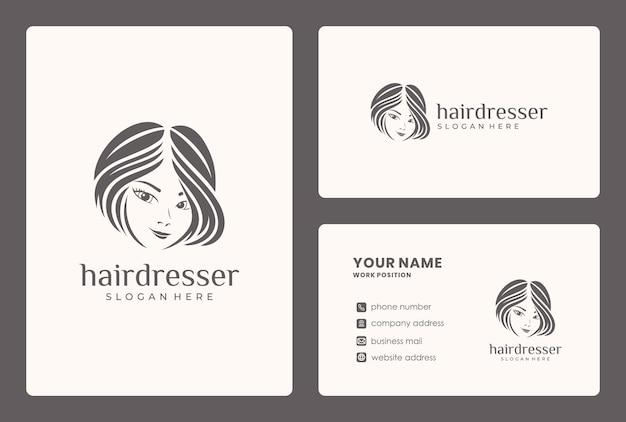 Diseño de logotipo de belleza de cabello minimalista. el logotipo se puede utilizar para salón de belleza, tienda de cuidado de la piel.