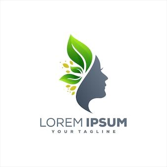 Diseño de logotipo de belleza lady spa