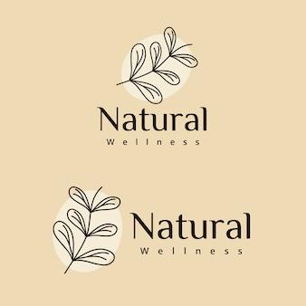 Diseño de logotipo de bienestar natural