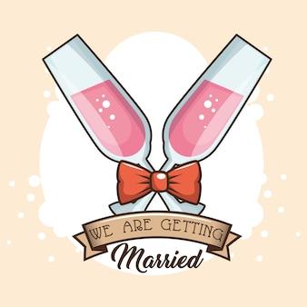 Diseño de logotipo de la boda