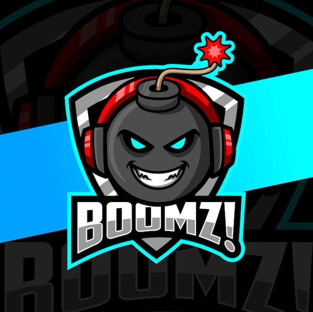 Diseño de logotipo de bomba mascota esport