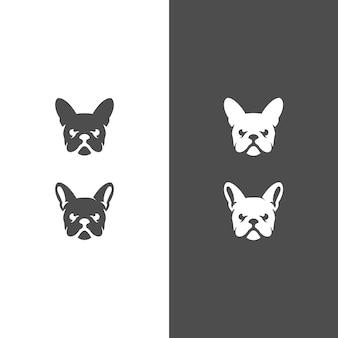 Diseño de logotipo de cabeza de perro