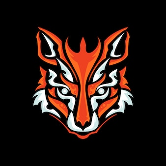 Diseño de logotipo de cabeza de zorro