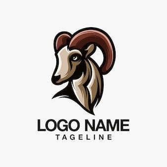 Diseño de logotipo de cabra