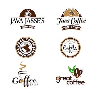 Diseño de logotipo de cafetería.
