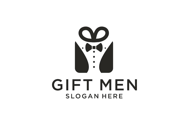 Diseño de logotipo de caja de regalo para hombre.