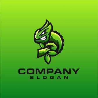 Diseño de logotipo camaleón