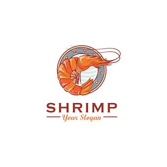 Diseño de logotipo de camarón