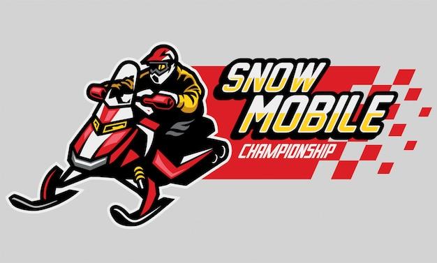 Diseño de logotipo del campeonato de motos de nieve