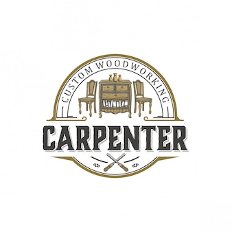 Diseño de logotipo para carpintería.