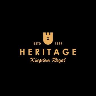 Diseño de logotipo de casa castillo creativo