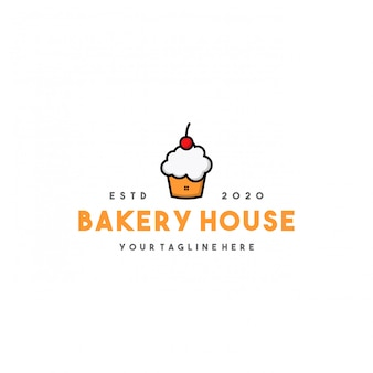 Diseño de logotipo de casa de panadería profesional