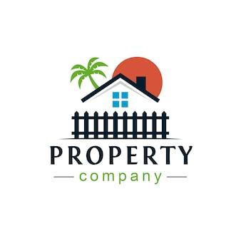 Diseño de logotipo de casa de playa