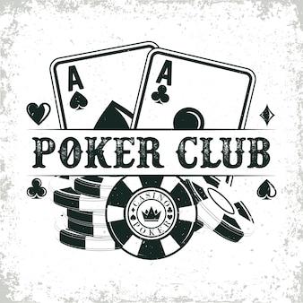 Diseño de logotipo de casino vintage