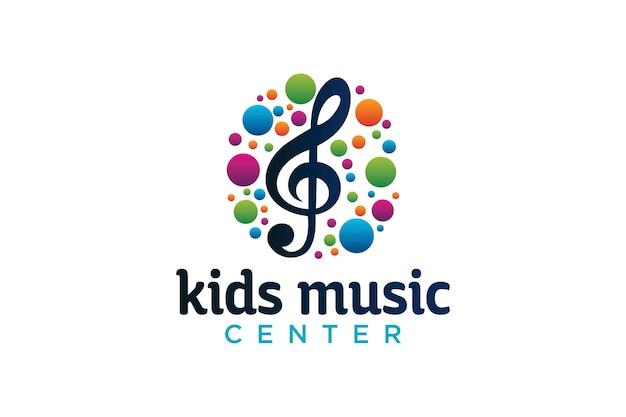 Diseño de logotipo de centro de música para niños