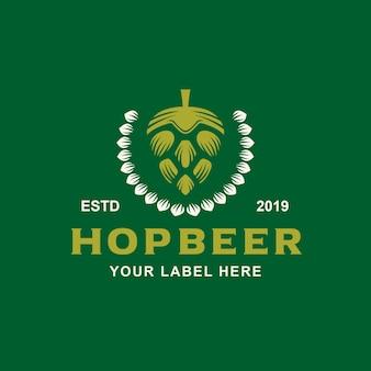 Diseño de logotipo de cerveza hop