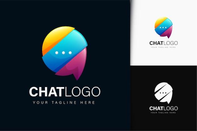 Diseño de logotipo de chat con degradado.