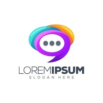 Diseño de logotipo de chat