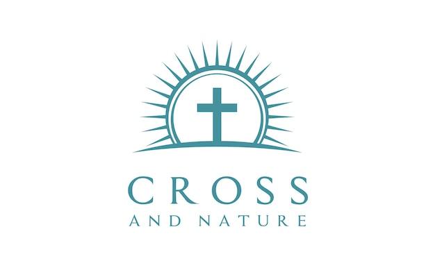Diseño de logotipo christian church de naturaleza