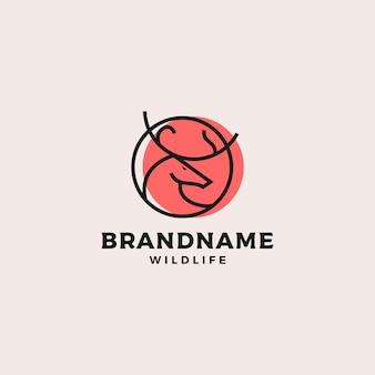 Diseño de logotipo de ciervo simple