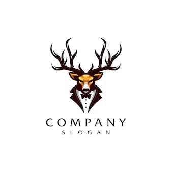 Diseño de logotipo de ciervo