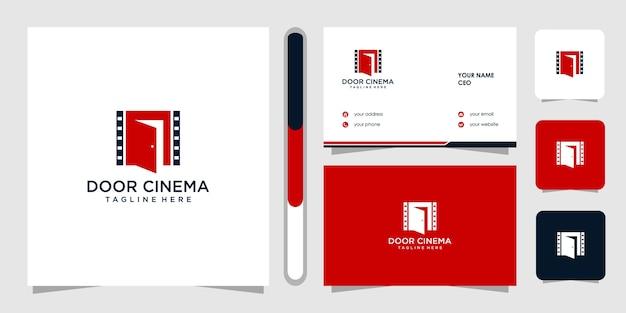 Diseño de logotipo de cine y tarjeta de visita.
