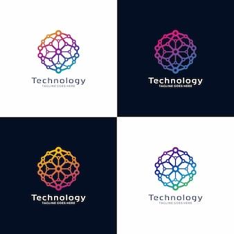 Diseño de logotipo de circle technology