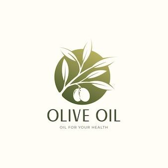 Diseño de logotipo de círculo de aceite de oliva verde