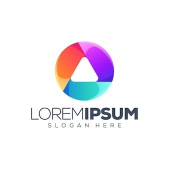Diseño de logotipo de círculo