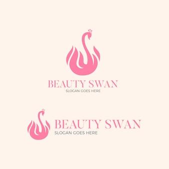 Diseño de logotipo de cisne de belleza
