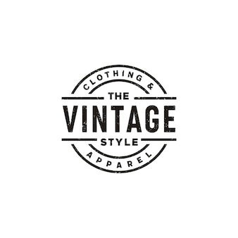 Diseño de logotipo clásico vintage retro label badge para ropa de tela