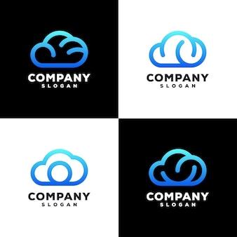 Diseño de logotipo cloud color