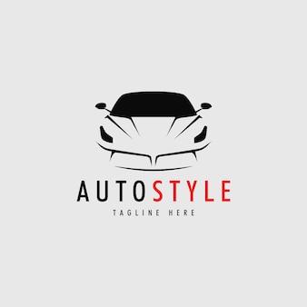 Diseño de logotipo de coche de estilo automático con ilustración de vector de concepto deportivo