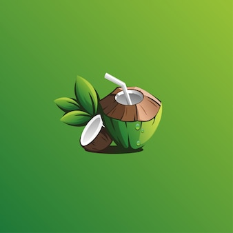 Diseño de logotipo de coco
