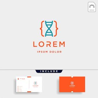 Diseño de logotipo de código de adn