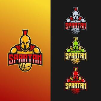 Diseño de logotipo de la colección del equipo espartano