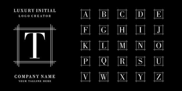 Diseño de logotipo de colección inicial