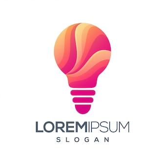 Diseño de logotipo de color degradado claro