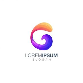 Diseño de logotipo de color degradado de letra c