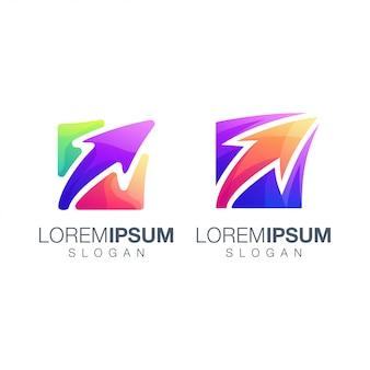 Diseño de logotipo de color de flecha