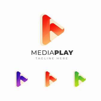 Diseño de logotipo colorful play
