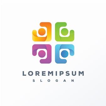 Diseño de logotipo colorido abstracto listo para usar